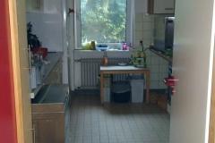 Unsere Küche, wo lecker Mittagessen zubereitet wird