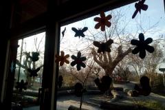 Fensterdeko in der Igelgruppe